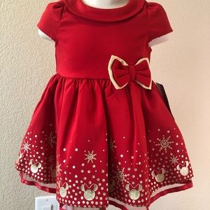 Disney Baby Minnie Mouse Christmas/Holiday Dress